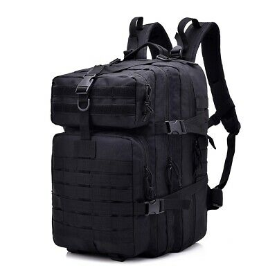 Large 45L Unisex Military Tactical Backpack Assault Pack Army Shoulder Bag