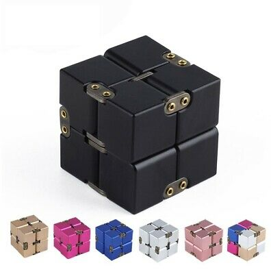 Luxury Aluminium Metal Infinity Cube Fidget Toys Stress Reliever for EDC Anxiety