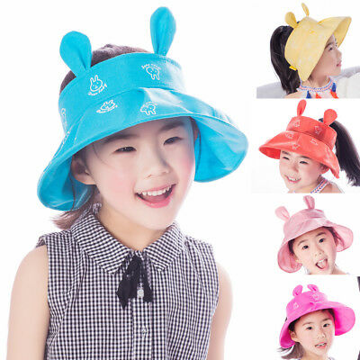 8adcde6e4ed US Toddler Infant Kids Sun Cap Summer Outdoor Baby Girls Boys Beach Cotton  Hat