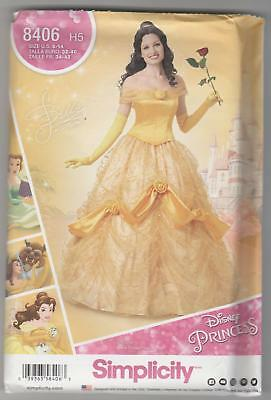 Simplicity Sewing Pattern 8406 Miss Disney Princess Belle Gown Costume Sz 6-14