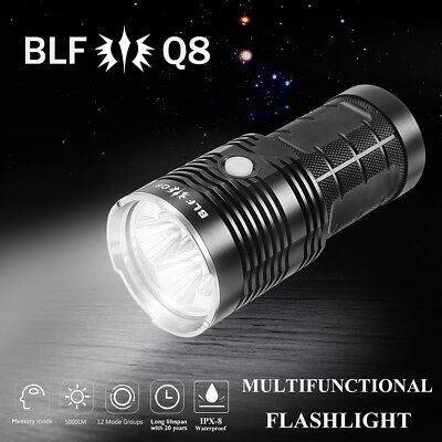 BLF Q8 Professional Multiple Operation Super Bright LED Flashlight Torch Outdoor