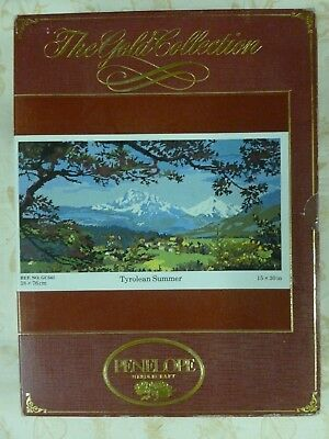 """Vtg Penelope Needlecraft The Gold Collection """"Tyrolean Summer"""" ref.no GC541*NEW"""