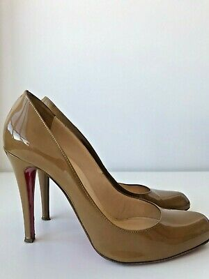 1506c13926db Christian Louboutin Simple 100 pumps in Taupe Patent leather Sz EU 38.5 US  8.5