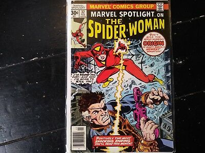 Marvel spotlight #32 spider woman first appearance feb 1977 30 cent copy