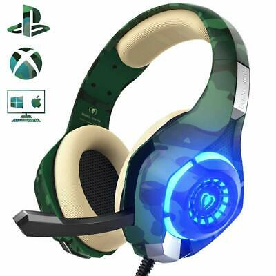 Beexcellent Cuffie Gaming Xbox One PS4 Multi-Platform Bassi Profondi Over Ear...