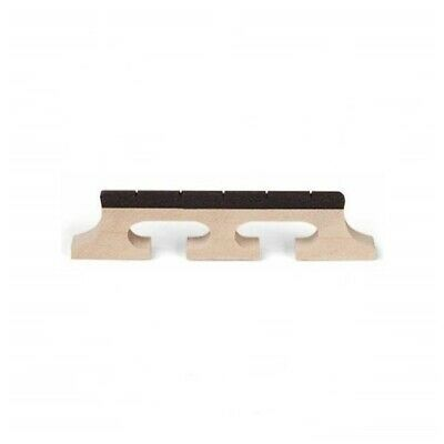 """5-String Banjo Bridge Maple with Notched Ebony Top - Height 1/2"""""""