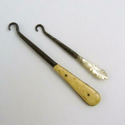 Two 19Th Century Button Hooks