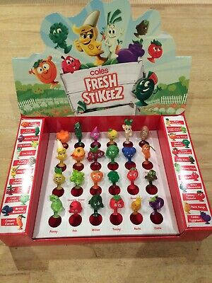 Coles Stikeez Stickeez Full Set of 24 with Collectors Case - New