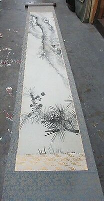 Antique Chinese Hand Painted Silk Scroll