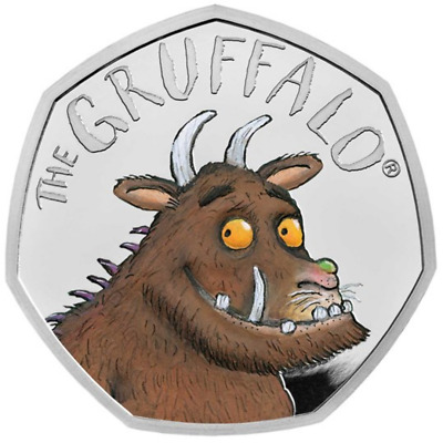 Royal Mint Gruffalo Silver Proof 50 Pence Coin