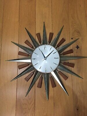 Retro Original Metamec Wallclock Sunburst 1960's 1970's