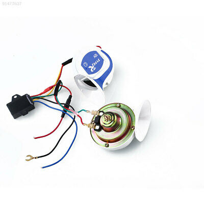 D01D 12V Car Van Vehicle Marine Boat 18 Sounds 115DB Air Snail Horn Loud Alarm