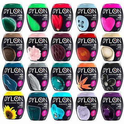 Dylon All-in-1 Machine Fabric Textiles Clothing Permanent Dye Pod Easy To Use