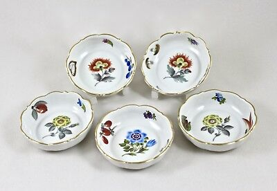 Herend Porcelain Market Garden Fr Small Dishes Butter Pats X 5 7719 1St Perfect!