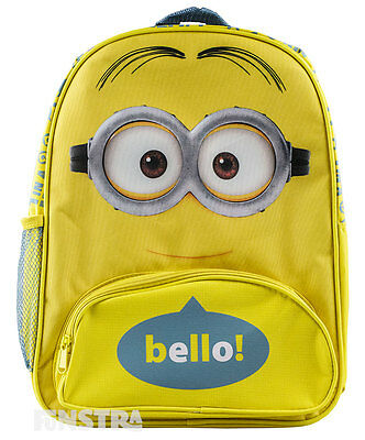 Minions Backpack Despicable Me Kids Girls Boys School Book Bag Luggage Toy Bello