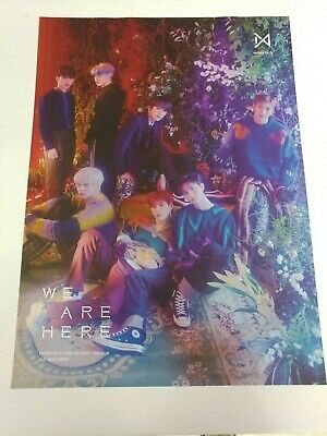 Monsta X - Take.2 : We Are Here Unfolded Poster Hard Tube Case
