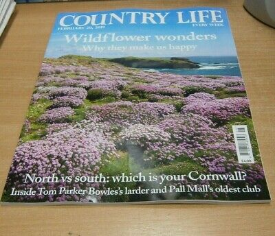 Country Life magazine 20 FEB 2019 North vs South; Cornwall, Tom Parker Bowles's