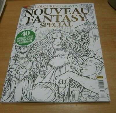 Colouring Heaven magazine #46 Nouveau Fantasy Special by Herb Leonhard