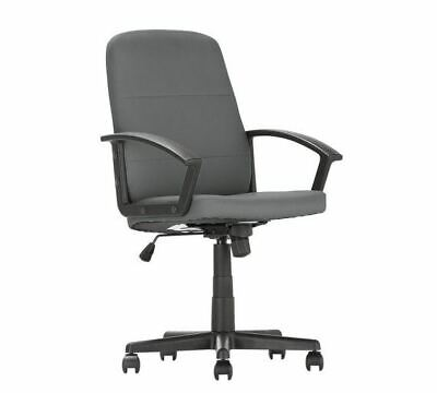 Grey Leather Managers Executive Height Adjustable Chair Home or Office Gaming