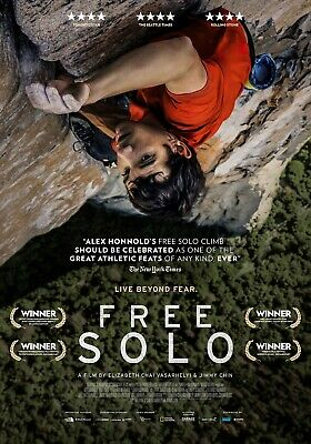 FREE SOLO - Admit 2 DOUBLE PASS Cinema Movie Film Adult Tickets