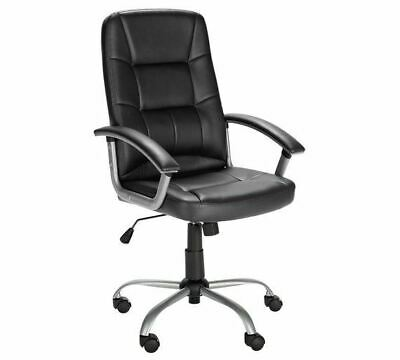 Black Leather Gaming Chair for Home or Office Adjustable Swivel Manager