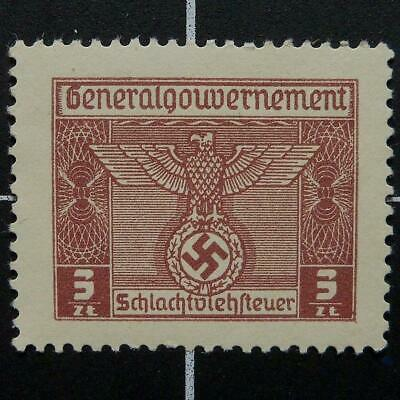 Germany Butchery Fee revenue stamp-MNH-WW2 German nazi occupied Poland-Gener Gov