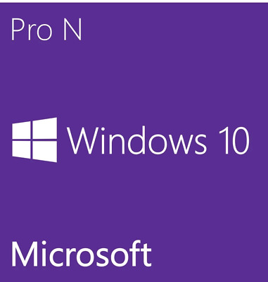 Win 10 Pro N 32/64 Bits Original Digital Key Windows