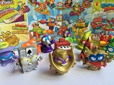 Superzings Series 3 Rivals of Kaboom Figures Rare Gold Silver FAST P&P