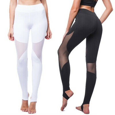 Women Fitness Yoga Leggings Running Sport High Waist Jogging Pants Trouser LH