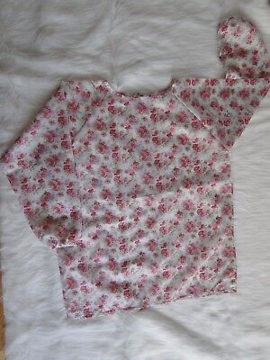 Polyester Art Smock in Floral Print 80x63cm