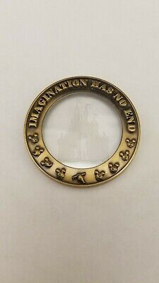 """Imagination Has No End"" See Through Disney Challenge Coin"