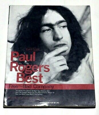 Paul Rogers BEST Japan Band Score Song Book Guitar TAB / FREE, BAD COMPANY