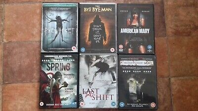 Horror DVD Bundle of 6 Inc - Last Shift , American Mary , Pyewacket & Spring