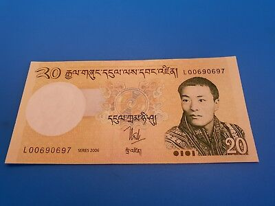 Bhutan Bank Note. 20 Ngultrum . 2006. P30a.  UNC,