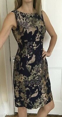 Brand New Hobbs Wedding Guest Dress Uk 10 Midnight Multi Jacquard Occasion