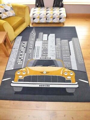 New York Taxi Grey Small Extra Large Big Huge Mustard Floor Carpets Rugs Cheap
