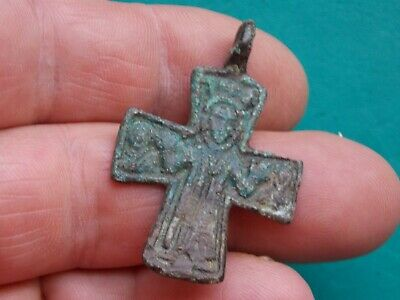 post medieval european religious cross complete with its loop metal detecting