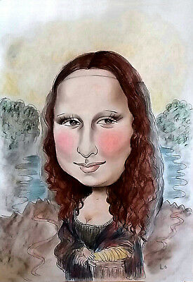 Personalise Caricature in colour A3, get your Wonderful Mother's day gift!