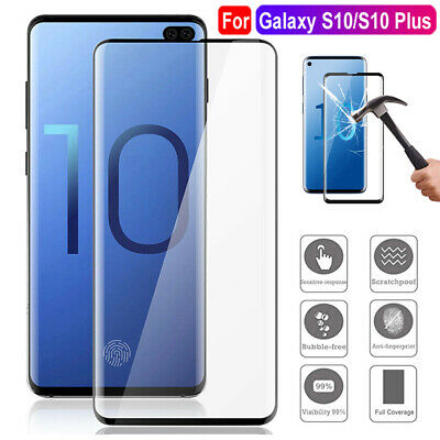For Samsung Galaxy S10 Plus 6D Full Cover Tempered Glass Screen Protector Guard