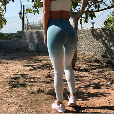 Women Ladies Yoga Gym Sports Leggings Workout Fitness Stretch High Waist PantsLH