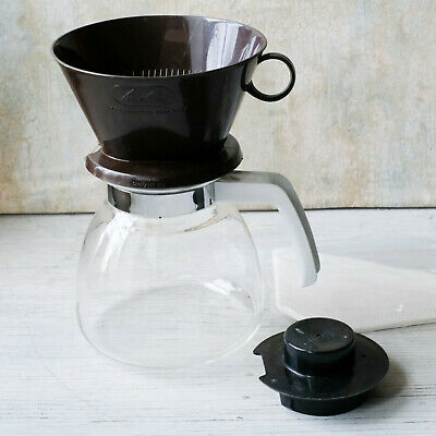 Melitta Pour Over 10-Cup Gourmet Manual Coffee Maker with Glass Carafe
