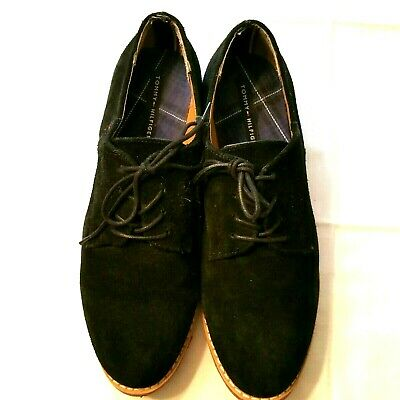 979a64619670 TOMMY HILFIGER SHOES Women s Suede Leather Size 9 M BLACK Oxford ...