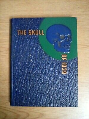 1939 Temple University School of Medicine Philadelphia PA College Yearbook Skull