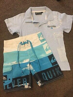 Boys size 4 Billabong Top & Quiksilver Shorts