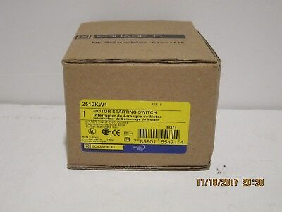 SQUARE D 2510KW1H Manual Motor Switch FREE PRI-SHIPPING BRAND NEW IN FACTORY BOX