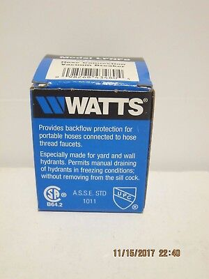 "Watts Lfnf8 3/4"" Lead Free Hose Connection Vacuum Breaker-Free Fast Ship Nisb!!!"