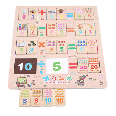 Wooden Math Puzzle Kids Early Education intelligence Arithmetic Children Toy LH