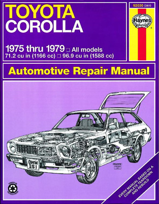Toyota Corolla 1975-1979 Haynes Workshop Manual Service Repair Manual
