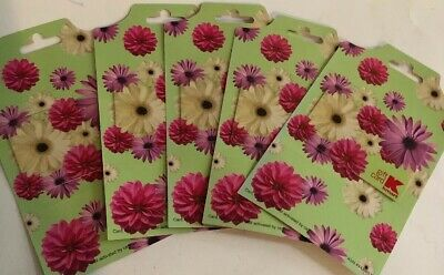 Lot 5 Floral Kmart Gift Cards No $ Value Collectible