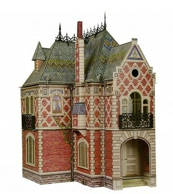 Cardboard model kit. Victorian doll house. Scale about 1/14. Full set of 3 kits.